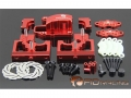Team Losi  Desert Buggy XL  Centre Diff Bracket Adjustable Calipers Red by FID Racing