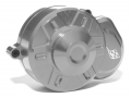 Axial Wraith Aluminum Transmission Spur Gear Case Cover Silver by Boom Racing