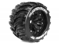 Traxxas E-Revo Louise 1/8 MT-Cyclone Traxxas Style Bead 3.8  Monster Truck Sport Compound / Black Rim / 1/2 Offset Front & Rear by Louise RC
