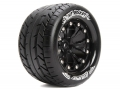 Traxxas Jato Louise 1/10 MT-Rocket Traxxas Style Bead 2.8  Monster Truck Tire Soft Compound / Black Rim / Bearing (for GP Jato 2WD Front) by Louise RC