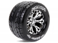 Traxxas Jato Louise 1/10 MT-Rocket Traxxas Style Bead 2.8  Monster Truck Tire Soft Compound / Chrome Rim / 1/2 Offset (for Jato 2WD Rear) by Louise RC