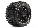Traxxas Jato Louise 1/10 Pioneer Traxxas Style Bead 2.8  Monster Truck Tire Soft Compound / Black Rim / Bearing (for Gp Jato 2wd Front) by Louise RC