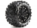 Traxxas Stampede VXL Louise 1/10 MT-UPHILL Traxxas Style Bead 2.8  Monster Truck Tire Soft Compound / Black Rim / 0 Offset (rear) by Louise RC
