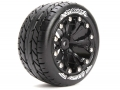 Traxxas Stampede VXL Louise 1/10 ST-Rocket Bead Traxxas Style Bead 2.8  Stadium Truck Tire Soft Compound / Black Rim / 0 Offset (for EP Stampede 2WD Front) by Louise RC
