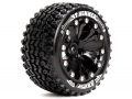 Traxxas Stampede VXL Louise 1/10 St-hummer Bead Traxxas Style Bead 2.8  Stadium Truck Tire Soft Compound / Black Rim / 0 Offset (for Ep Stampede 2wd Front) by Louise RC