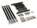 Axial SCX10 Aluminum Gearbox Holder & Lower Link Gun Metal by Team Raffee Co.