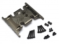 Axial SCX10 Aluminum Skid Plate - 1 pc Gun Metal [RECON G6 The Fix Certified]  by Boom Racing