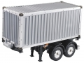 Miscellaneous All Tamiya Tractor Truck Trailer 1/14 Scale 2 Axle 20 Foot Container Semi-Trailer  by Hercules Hobby