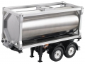 Miscellaneous All 20 Foot CNC Aluminum Oil Tank For 1/14 RC Tamiya Freightliner Cascadia Evolution Truck  by Hercules Hobby