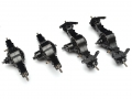 Miscellaneous All 1/14 Aluminum 8x8 All Wheel Drive Powered Axle Set (Lock Differetial Version) by Hercules Hobby