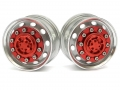 Miscellaneous All 1/14 Tractor Trucks Front Wide Wheels (2 pcs) Version A Red by Hercules Hobby