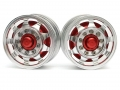 Miscellaneous All 1/14 Tractor Trucks Front Wide Wheels (2 pcs) Version C Red by Hercules Hobby