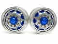 Hercules Hobby Miscellaneous All 1/14 Tractor Trucks Front Wide Wheels (2 pcs) Version D Blue