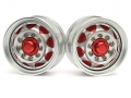 Miscellaneous All 1/14 Tractor Trucks Front Wide Wheels (2 pcs) Version D Red by Hercules Hobby