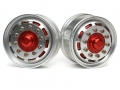 Hercules Hobby Miscellaneous All 1/14 Tractor Trucks Front Wide Wheels (2 pcs) Version E Red