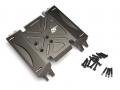 Axial Wraith Aluminum Skid Plate Gun Metal by Boom Racing