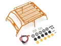 Team Raffee Co. Miscellaneous All Roof Luggage Rack For 1/10 AMG 4x4 Truck Orange