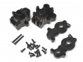 Axial Yeti Aluminum Transmission Case - 1 Set Black by Boom Racing
