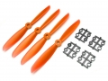 Miscellaneous All Gemfan 6x4.5 Nylon Glass Fiber Propeller (Set of 4 - CCW) Orange by Gemfan
