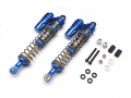 Axial Wraith Boomerang™ Type E Aluminum Piggyback Shocks 107mm (2) Blue [OFFICIAL RECON G6 SHOCKS] by Boom Racing