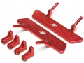 Gmade Sawback Aluminum Rock Rails Set- 1 Set Red by Boom Racing