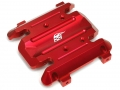 Gmade Sawback Aluminum Skid Plate with Bearings  - 1Set Red by Boom Racing