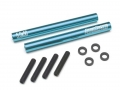 Miscellaneous All Threaded Aluminum Link Pipe Rod 5x50mm (2) w/ Set Screws & Delrin Spacers Blue by Boom Racing