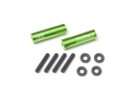 Miscellaneous All Threaded Aluminum Link Pipe Rod 7x25mm (2) w/ Set Screws & Derlin Spaces Green by Boom Racing