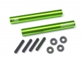 Miscellaneous All Threaded Aluminum Link Pipe Rod 7x55mm (2) w/ Set Screws & Delrin Spacers Green by Boom Racing