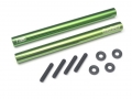 Miscellaneous All Threaded Aluminum Link Pipe Rod 7x80mm (2) w/ Set Screws & Derlin Spaces Green by Boom Racing