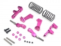 3Racing Sakura D4 AWD Aluminum Front Upper Adjustable Arms Mono Shock System  - 1 Set Pink by Boom Racing
