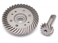 Traxxas Slash 4X4 Front Steel Heavy Duty Helical Spiral Differential Ring & Pinion Gear (37T/13T) for All Traxxas 4WD 4X4 by Boom Racing