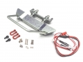 Axial SCX10 Realistic Steel Front Bumper with Towing Hooks  - 1 Set Silver by Team Raffee Co.