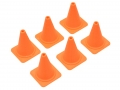 Miscellaneous All Scale Accessories - Drift Pylons (Cones) 6pcs Pack Orange by Top-Shelf Hobby