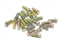 Miscellaneous All Scale M2 * 4.5mm Wheel Bolts Screw (20) KRAIT™ Beadlock Zinc Plated by Boom Racing