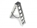 Miscellaneous All Scale Accessories 4 Inch Aluminum Ladder 1 pc by Team Raffee Co.