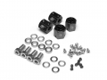 Miscellaneous All KRAIT™ Aluminum 12mm Wheel Hex Widener (4) (Offset: 8mm) - Black by Boom Racing
