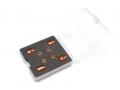 Miscellaneous All Aluminum Magnetic Body Post Locator - 1 Set Orange by Team Raffee Co.