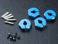 Miscellaneous All Aluminum Hex. Wheel Hubs 4MM (4) Blue by MST