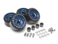 Boom Racing Miscellaneous All Venomous KRAIT™ 1.9 Aluminum Beadlock Wheels with 8mm Wideners (4) [Recon G6 Certified] Blue