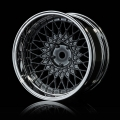 Miscellaneous All 501 Offset Changeable Wheel Set (4) Silver Black by MST