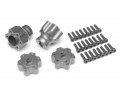Axial Yeti Aluminum Front & Rear Wheel Hub Adapters - 2 Sets Gun Metal by VIM