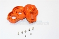 Axial SCX10 II Aluminium Spur Gear Housing - 2Pcs Set for Kit only (For SCX10 II 90046 Only) Orange by GPM Racing