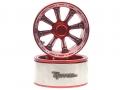 Miscellaneous All Gemini™ 1.9 High Mass Beadlock Aluminum Wheels Spoke-8 TYPE D (2) Red by Team Raffee Co.