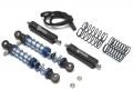 Miscellaneous All Aluminum Adjustable Piggyback Shocks 70MM (2) Black by Team Raffee Co.