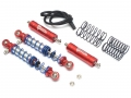 Miscellaneous All Aluminum Adjustable Piggyback Shocks 80MM (2) Red by Team Raffee Co.