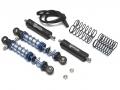 Miscellaneous All Aluminum Adjustable Piggyback Shocks 80MM (2) Black by Team Raffee Co.