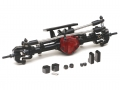 Miscellaneous All Complete Assembled Scale PHAT Front Axle Version 2 for D90/D110 Red by Team Raffee Co.