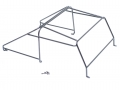 Miscellaneous All Metal Roll Cage Rack for Team Raffee Co. Defender D90 Pickup by Team Raffee Co.