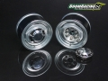 Miscellaneous All 1.55 Yota LC Classic Rear Beadlock Wheels (2) with 3mm Wideners (2) Gun Metal by Boom Racing